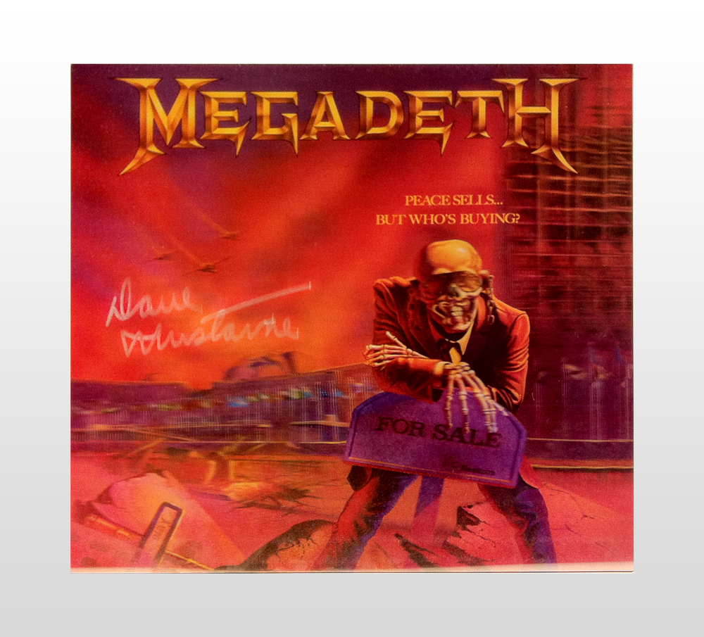 Megadeth Signed Art Flat